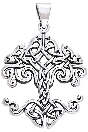 Jewelry Trends Sterling Silver Celtic Knot Work Tree of Life Pendant