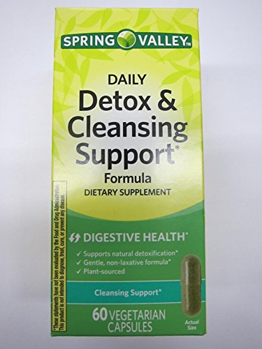 Spring Valley Daily Detox & Cleansing Digestive Support, 60 Vegetarian Capsules
