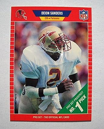 Amazoncom 1989 Pro Set Football Rookie Card 486 Deion