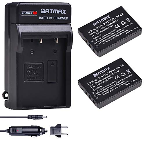 IC-5001 DB-L50 Battery + Charger Kits for Sanyo DB-L50 Kodak P850 Z760 DX7590 DX7630 Zoom Sanyo DMX-FH1 FH11 HD1000 HD2000 VPC-WH1 VPC-HD1010 HD2000 Camera ()