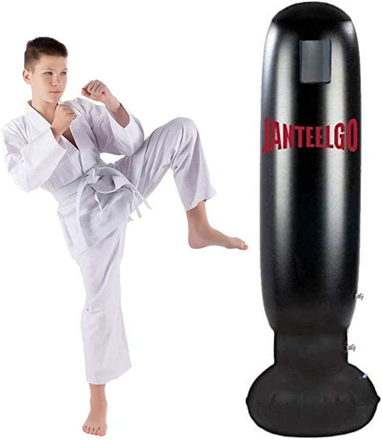160cm Free Standing Inflatable Boxing Punch Bag Kick MMA Training Kids Adults.UK