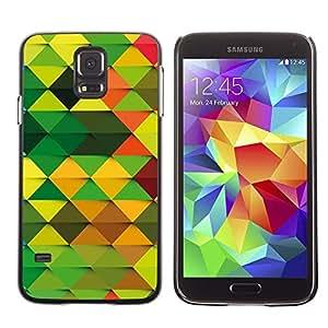 Be Good Phone Accessory // Dura Cáscara cubierta Protectora Caso Carcasa Funda de Protección para Samsung Galaxy S5 SM-G900 // Wallpaper Pattern Random Green Brown Orange
