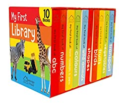The amazing boxset contains a set of 10 well-researched board books to introduce wide range of learning topics and everyday objects to the little scholars. Vibrant pictures and accurate word labels encourages the child to build a robust vocab...