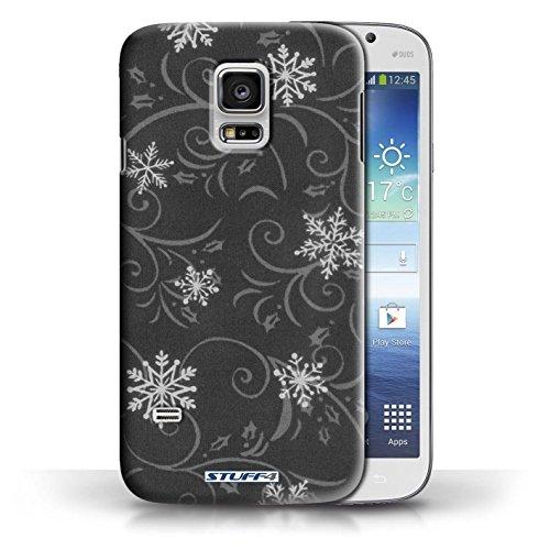 pour Samsung Galaxy S5 Mini / Noir conception / Collection de Motif flocon de neige