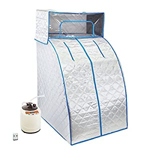 Gizmo Supply Portable Steam Sauna Tent with Head Cover