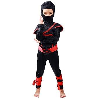 ZGCO Disfraz de Halloween Disfraz de Ninja para niños Disfraz de ...