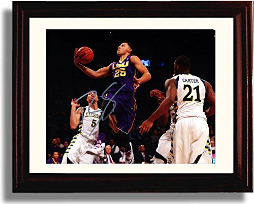 Framed Ben Simmons - LSU Tigers Basketball Autograph Replica Print