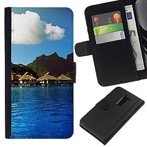 JackGot ( Natura Bella Forrest verde 114 ) LG G2 D800 la tarjeta de Crédito Slots PU Funda de cuero Monedero caso cubierta de piel