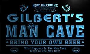 qa1237-b Gilbert's Man Cave Football Game Room Bar Neon Beer Sign