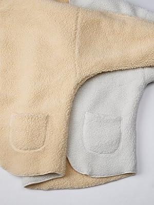 Choies Women's Reversible Faux Fur Winter Hooded Cardigan Coat Black/Beige/Burgundy