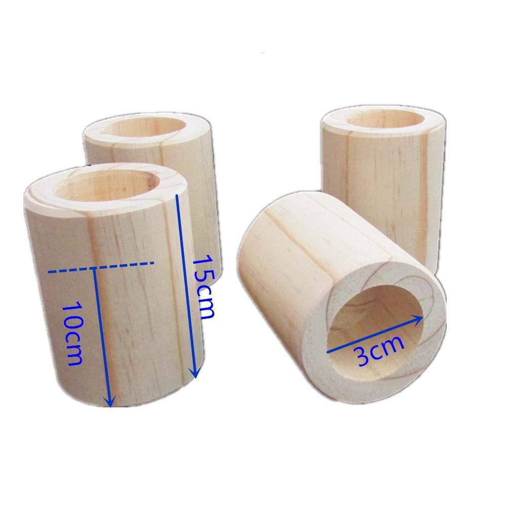 Risers de lit de couleur 4PCS bois /Él/évateurs de meubles r/ésistants /à loriginal en bois