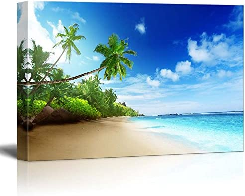 Beautiful Landscape Beach in Sunset Time on Mahe Island in Seychelles Home Deoration Wall Decor