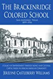 img - for The Brackenridge Colored School: A Legacy of Empowerment through Agency and Cultural Capital Inside An African American Community book / textbook / text book