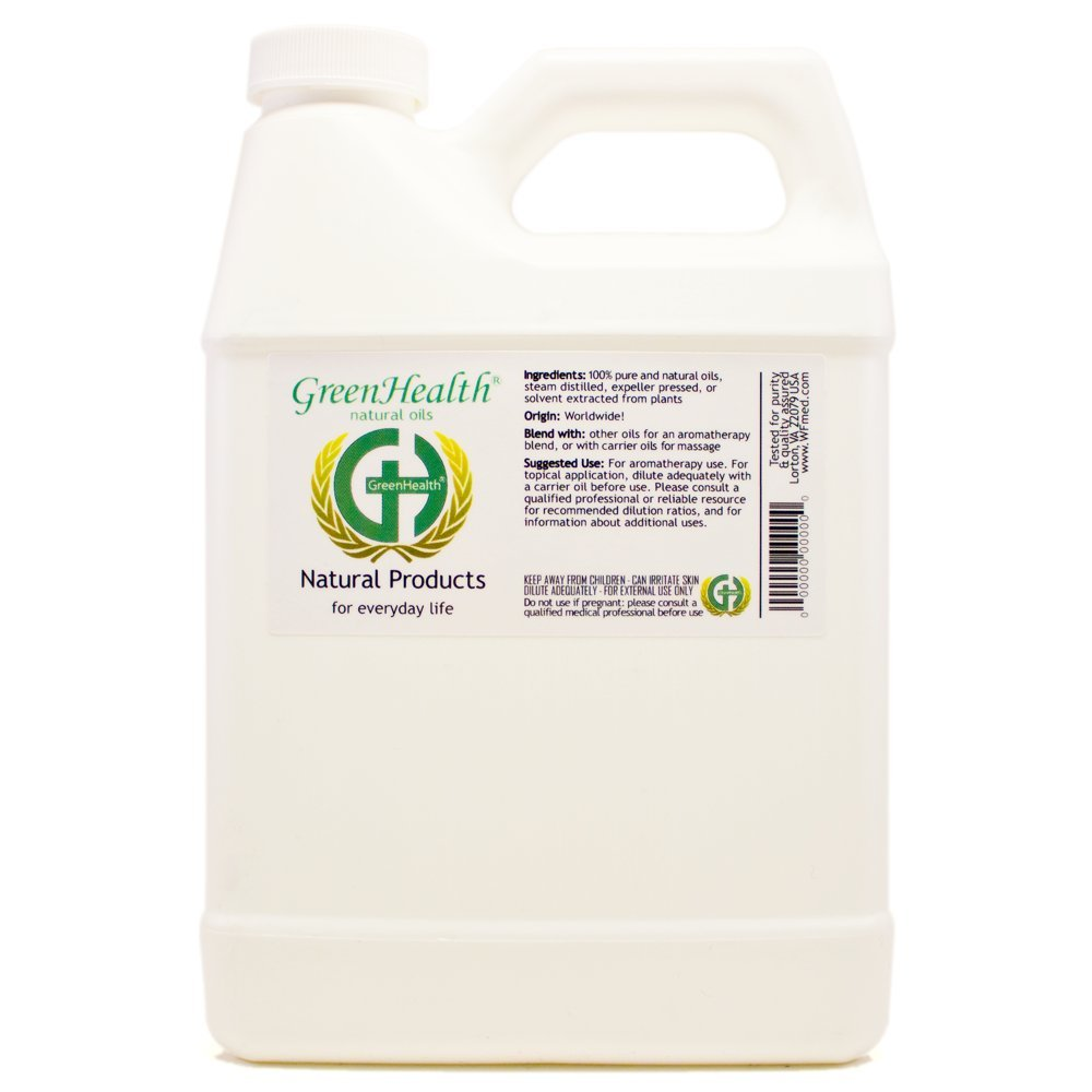 Peppermint Hydrosol - 32 fl oz Plastic Jug w/Cap - 100% pure, distilled from essential oil by GreenHealth