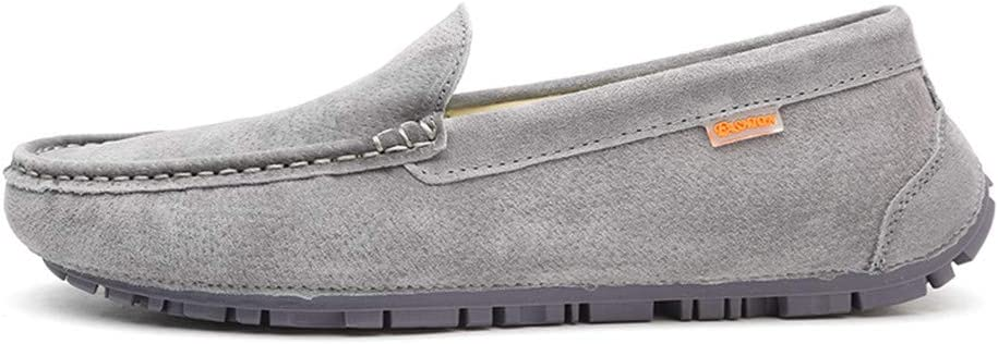 HYF Oxford Shoes Mens Drive Loafers for Casual Wear with Soft Leather Soles Boat Moccasins Dress Shoes Business Shoes for Men US Color : Gray, Size : 8 D M