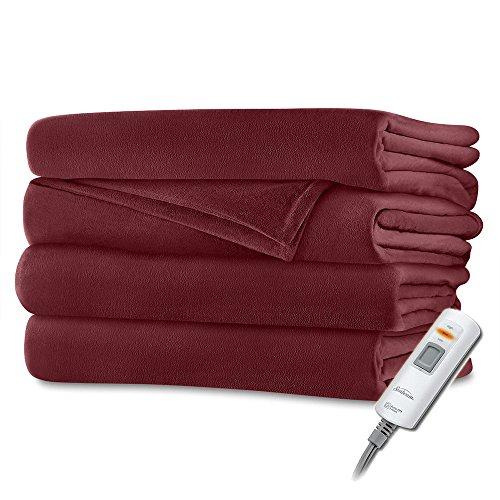 Sunbeam Luxurious Velvet Plush Premiun Soft Heated Throw