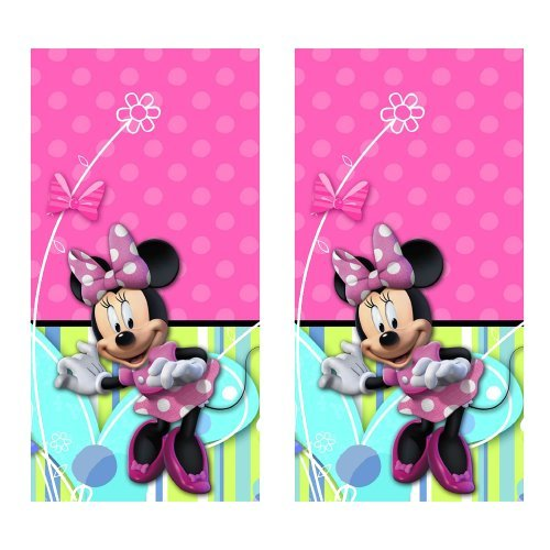 Disney Minnie Mouse Bow-tique Party Plastic Tablecovers - 2 Pieces]()
