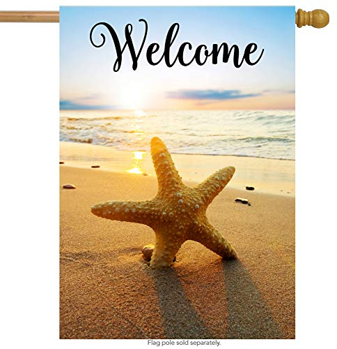 (ShineSnow Beach Starfish Summer Autumn House Flag 28