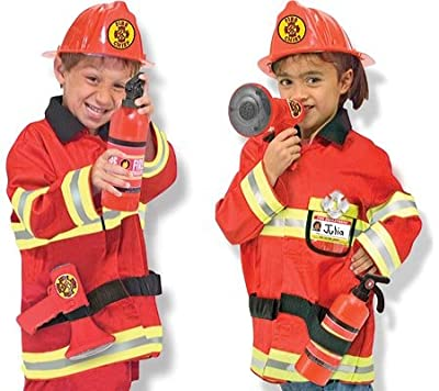 Melissa & Doug Children's Fire Chief Role Play Costume Set Costumes