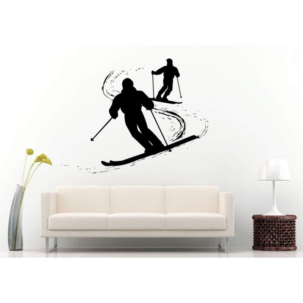 Esquí esquiar tatuajes de pared arte mural vinilo papel ...