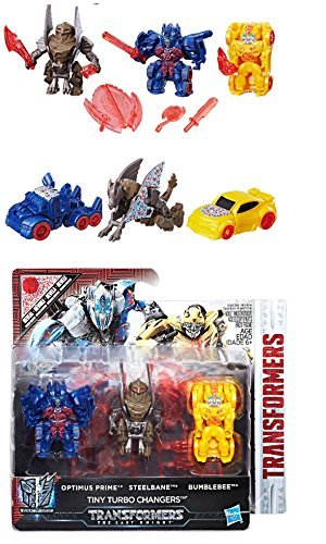 EXCLUSIVE Transformers Reveal the Shield Tiny Turbo Changers 3pk (1.5-Inch-Scale Figure ) - Optimus Prime, Steelbane & Bumblebee (Target Exclusive)