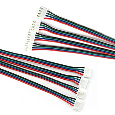 RuiLing 4PCS 1.5M 59 Inch Stepper Motor Cables Lead Wire HX2.54 4 Pin to 6 Pin
