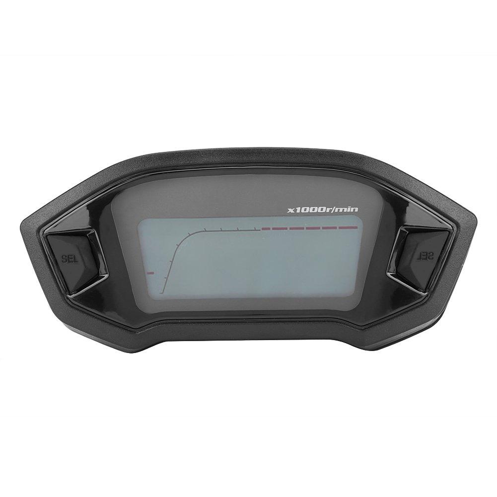 Compteur de Vitesse, Qiilu Instrument LCD Odometre Compteur Tachymetre Jauge pour Moto