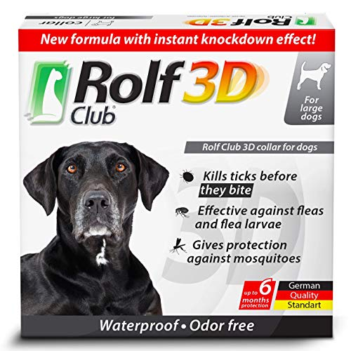 Rolf Club 3D FLEA Collar for Dogs - Flea and Tick Prevention for Dogs - Dog Flea and Tick Control for 6 Months - Safe Tick Repellent - Waterproof Tick Treatment (for All Dogs)