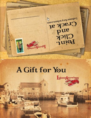 Lobster Anywhere Gift Card - Grocery Gift Store Cards E