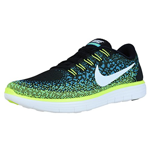 Nike Free RN Distance - Zapatillas de running Mujer Black / White - Blue Lagoon - Volt