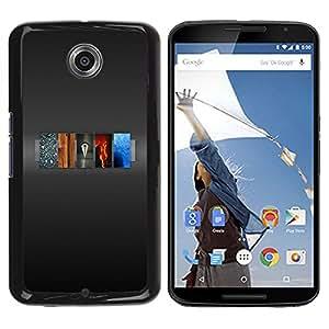 TopCaseStore / la caja del caucho duro de la cubierta de protección de la piel - 5 Elements Of Life - Motorola NEXUS 6 / X / Moto X Pro