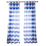 dark grey curtains pencil pleat Nclon Curtains,Stripe Cationic Printed Light Moisture absorption Breathable Stereo Pencil pleat Eyelet Curtains-blue 1 panel W140cmD175cm