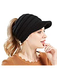FZAY Ponytail Baseball Cap Messy High Bun Adjustable Mesh Trucker Sun Hat for Women