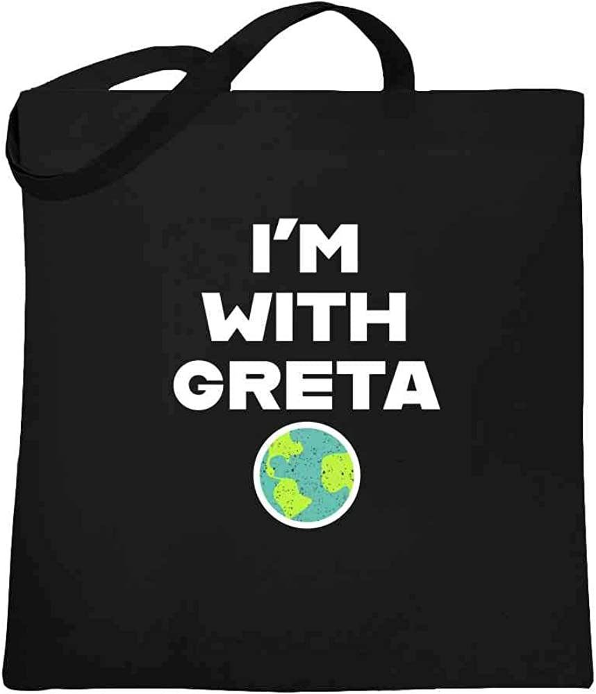 100/% Natural Cotton Climate Greta Thunberg Cotton Tote Activist Bag School Books Laptop Perfect for Shopping