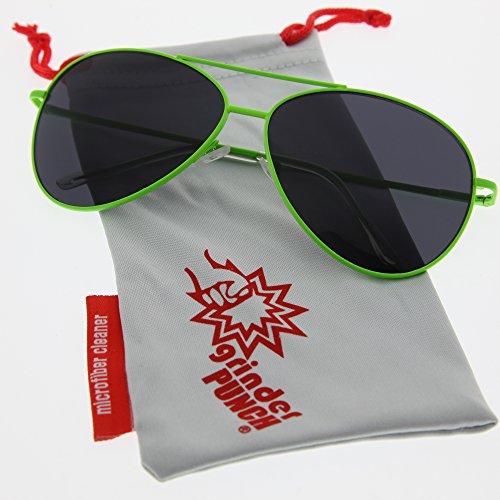 grinderPUNCH - Bright Neon Aviator Sunglasses: Neon - Aviator Neon Sunglasses
