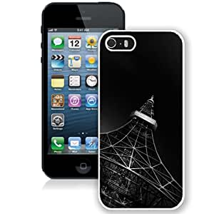 Hot Sale iPhone 5 5S Cover Case ,Fading Black Eiffel Tower White iPhone 5 5S Phone Case Unique And Fashion Design
