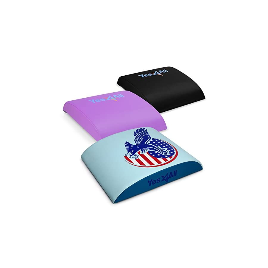 Yes4All Abdominal Excercise Mat – Full Range of Motion Ab Workouts Multi Color Available
