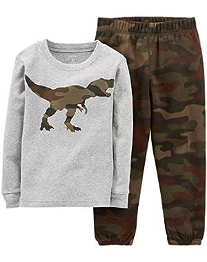 Carter's Baby Boys' 2 Piece Pant PJ Set (Baby) - Dinosaur