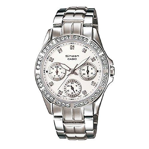 Casio Women's SHN3013D-7A Sheen Silver Watch