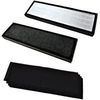 HQRP Kit: Two True HEPA Filter B & 4 pcs Carbon Filters for GermGuardian AC4800, AC4900CA, AC4825, AC4825e, AC4850PT Air Purifiers, FLT4825 / FLT4850PT / FLT22CB4 Replacement + HQRP Coaster