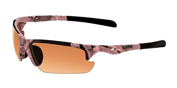 fb62bd0cc9 Amazon.com  Maxx Sunglasses Storm Pink Camouflage Frame HD Amber ...