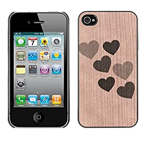 - / Valentines Hearts Love So Sweet - - Funda Delgada Cubierta Case Cover de Madera / FOR Apple iPhone 4 4S 4G / Jordan Colourful Shop/