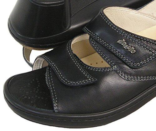 Fidelio Mujeres Hallux Fabia Juanete Ajustable Sandalia De Vestir 33617 (negro)