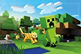 Minecraft - Gaming Poster / Print (Ocelot Chasing Creeper) (Size: 36'' x 24'') (By POSTER STOP ONLINE)