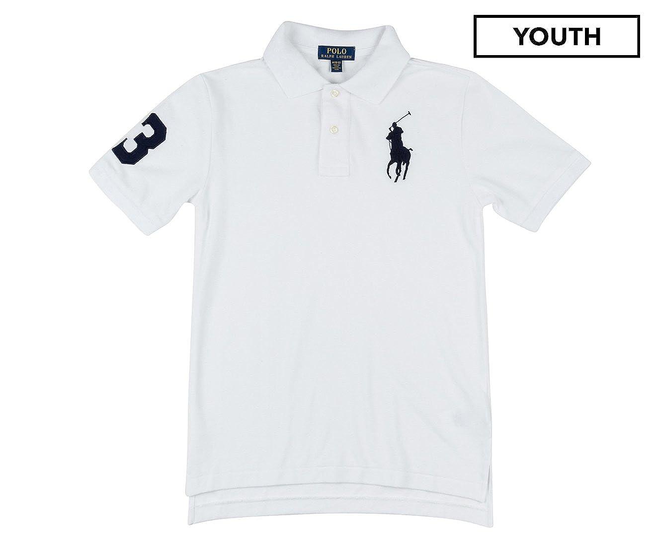 Polo Ralph Lauren Boys (8-20) Big Pony Shirt Long Sleeve Mesh Cotton