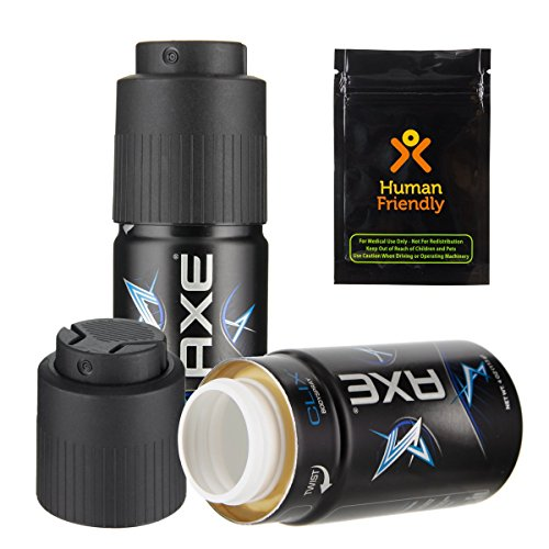 Axe Body Spray Diversion Safe Stash Can w HumanFriendly Smell-Proof Bag (Assorted)