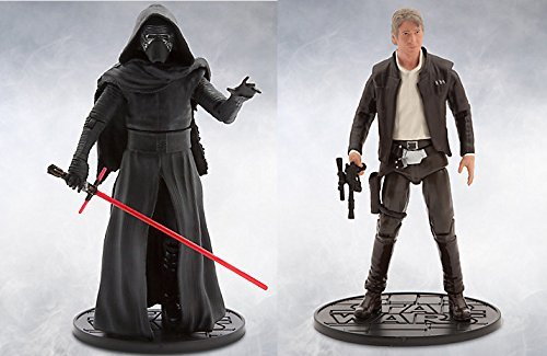 Star Wars AYB Products Kylo Ren /& Han Solo Elite Series Die Cast Action Figure 6 1//2 The Force Awakens