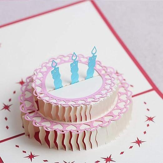 Torta 3d Origami Tarjeta Felicitación de cumpleaños con ...