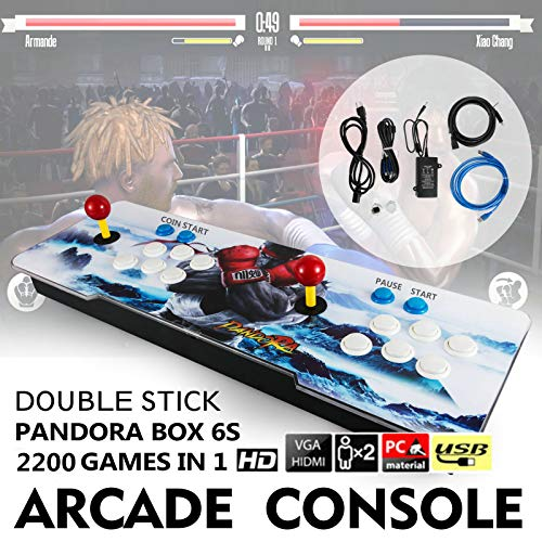 Barbella 2200 HD Arcade Game Console-3D Pandoras Box 6S Arcade Video Game 1080P Game System with 2190 Games Supports 3D Games 1920x1080 Full HD Support TF Card to Expand More Games for PC/TV/PS4 by Barbella (Image #4)