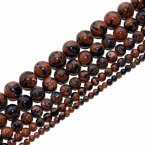 4mm Natural Blue Goldstone Beads Round Gemstone Loose Beads for Jewelry Making (95-100pcs/strand)